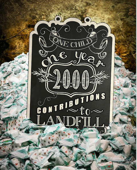 Disposable nappie landfill